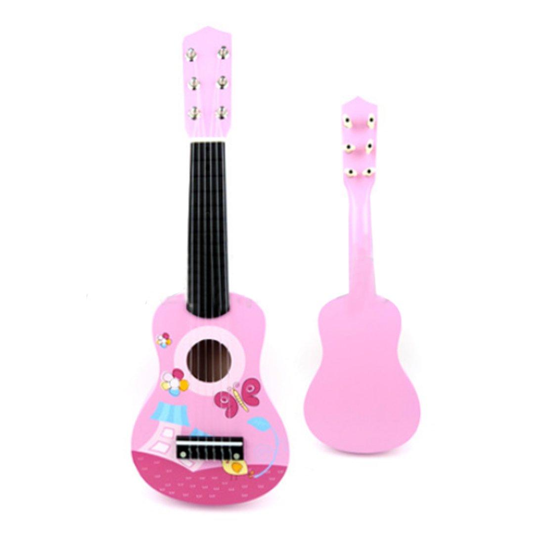Kinder Gitarre, Foxom 21' Holz 6 Saiten Gitarre Spielzeug Musikinstrument Pädagogisches Spielzeug Geschenk für Kinder Junge Mädchen ab 3 Jahre (Type-1)