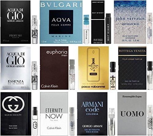 Best Selling Designer Fragrance Sampler for Men - Lot x 12 Cologne (Designer Sampler)