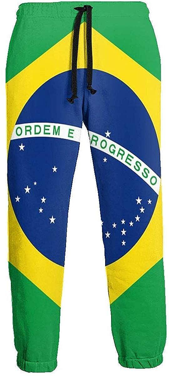 Cute Bi Pantalón de Chándal con Bandera de Brasil Pantalón de ...