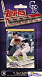 Colorado Rockies 2017 Topps Baseball EXCLUSIVE Special Limited Edition 17 Card Complete Team Set with Nolan Arenado, Trevor Story & Many More Stars & Rookies! Shipped in Bubble Mailer! WOWZZER!