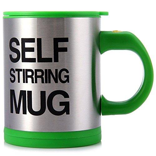 Self Stirring Coffee Mug Gift Set of 4 (Green) - 5