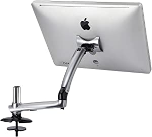 Cotytech Expandable Apple Desk Mount Spring Arm Grommet Base - Silver