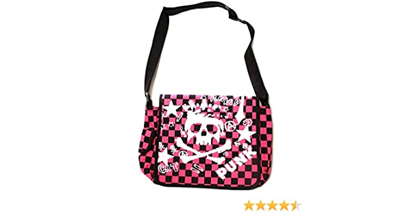 Clover Mini Checkered Black and White Skull Tote Bag Black and White