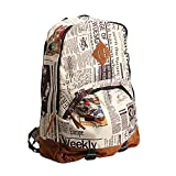 Yonger Canvas Vintage Backpack Travel Bags School Bag for Students Review