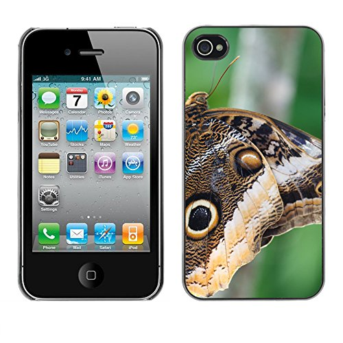 Premio Sottile Slim Cassa Custodia Case Cover Shell // F00013934 papillon // Apple iPhone 4 4S 4G
