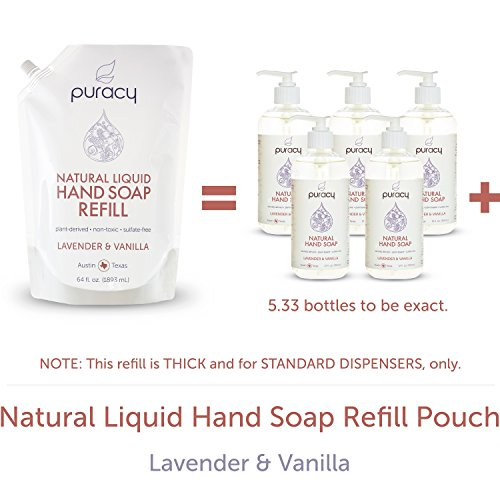 Puracy Natural Liquid Hand Soap Refill Sulfate Free Hand