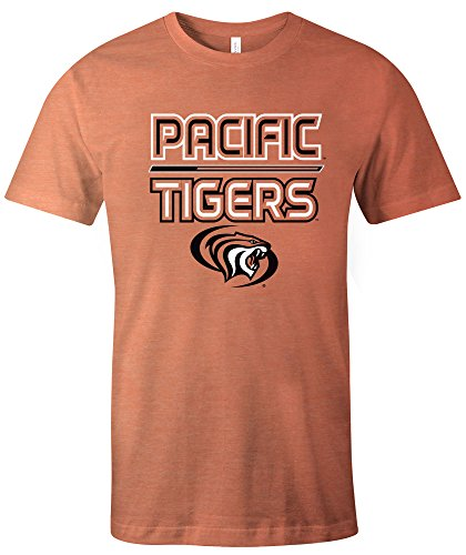 Pacific Collegiate Basketball (NCAA Pacific Boxers Reverse Short Sleeve Triblend T-Shirt, Large,Orange)