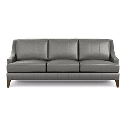 Amazon.com: Ethan Allen Emerson Leather Sofa, 90\
