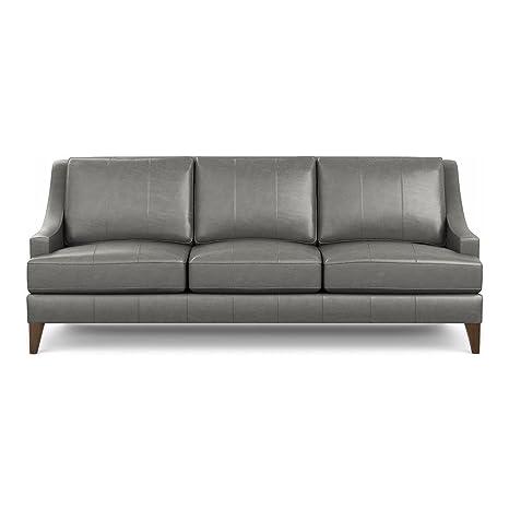 Amazon Com Ethan Allen Emerson Leather Sofa 90 Sofa Omni
