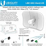 Ubiquiti LBE-5AC-Gen2 US 2X2MIMO airMAX LiteBeam Gen 5GHz 23dBi 450Mbps CPE US