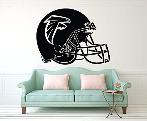 Advanced store Atlanta Falcons Wall Vinyl Decals American Football Logotype Helmet Game Play Team Vinyl Decals Vinyl Murals Stickers Removable Decor PT1030 ()