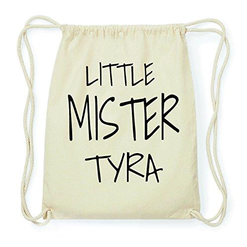 JOllify TYRA Hipster Turnbeutel Tasche Rucksack aus Baumwolle - Farbe: natur Design: Little Mister