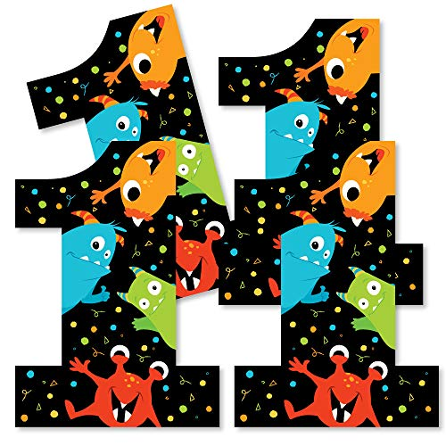 1st Birthday Monster Bash - One Shaped Decorations