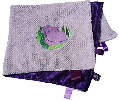 Purple Hippo Jumbo Applique Velour Lilac Lavender Blanket Kids ()