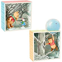 Hallmark (2 Piece Winnie The Pooh Disney Figurines Sets Collectibles Pooh Bear & Piglet Shadow Box Figures