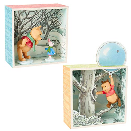 Hallmark (2 Piece Winnie The Pooh Disney Figurines Sets Collectibles Pooh Bear & Piglet Shadow Box Figures]()