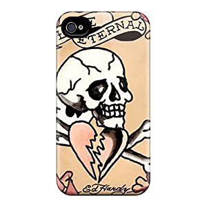 RMq764Gdtg Snap On Case Cover Skin For Iphone 4/4s(ed Hardy Eternal Love)