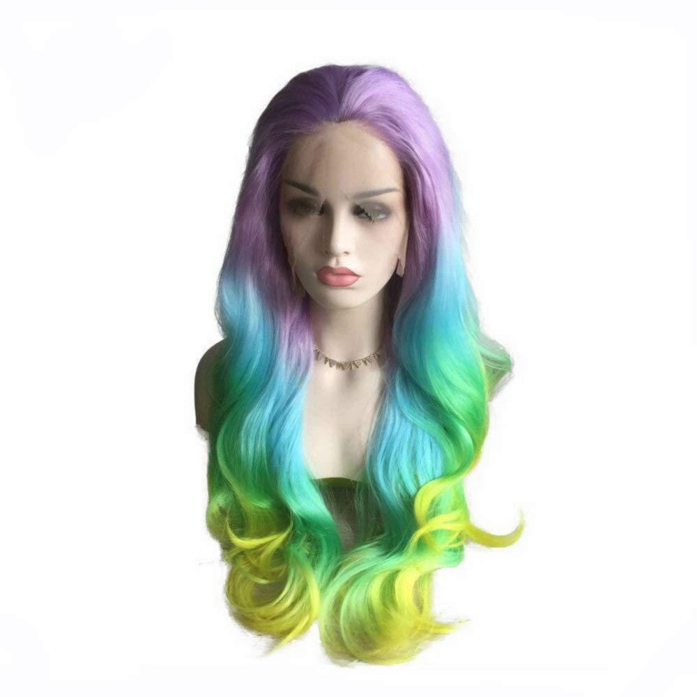 Ladies Long Wavy Mermaid Carnival Halloween Wig Fancy Dress Costume Outfit Wig