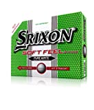 Srixon Men's Soft Feel Golf Ball (1-Dozen, Pure White), Outdoor Stuffs