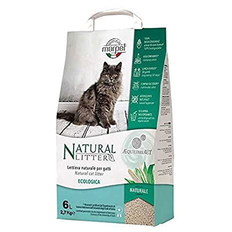 Marpet aequilibria Vet - Arenero Natural para gatos - 100% Biodegradable - agglomerante - antiolores - 6 Lt: Amazon.es: Productos para mascotas