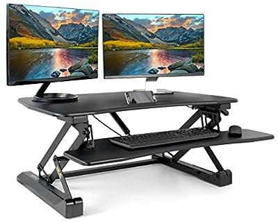 VIVO Black Height Adjustable Standing Desk