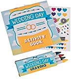 Children's Wedding Activity Books with Stickers and Crayons, 24 sets