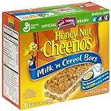 General Mills Milk 'n Cereal Bars Honey Nut Cheerios, 6 Bars per 8.5-oz. Box (Pack of 6 Boxes)