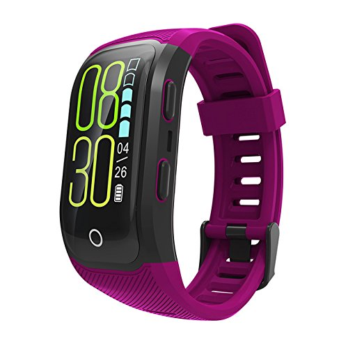 GPS Smart Band IP68 Waterproof Sports Wristband Multiple sports Heart Rate Monitor Call Reminder G03 Smart-band(purple)