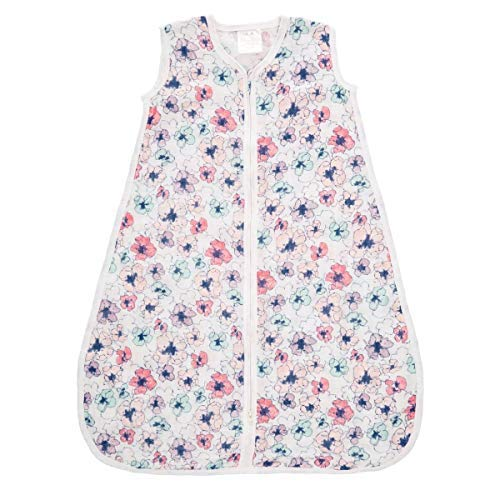 aden + anais Classic Sleeping Bag; 100% Cotton Muslin; Wearable Baby Blanket; Extra Large; 18+ Months; Trail Blooms - Flora
