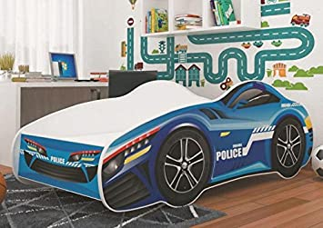 Etagenbett Polizei : Autobett car police rennfahrerbett polizei kinderbett spielbett bett