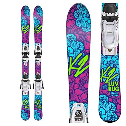 K2 Luv Bug Kids Skis with FDT 7.0 Bindings - -