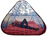 Mosquito Net Tent Style Foldable Washable 7/7 Feet with Base Cloth Nylon (213.36 X 213.36 cm) by The Viyu Box