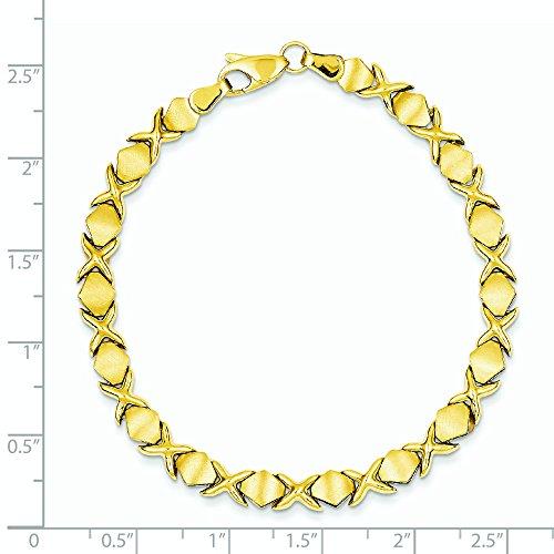 Costume Bracelet 14 carats - 7 mm-Fermoir mousqueton-JewelryWeb