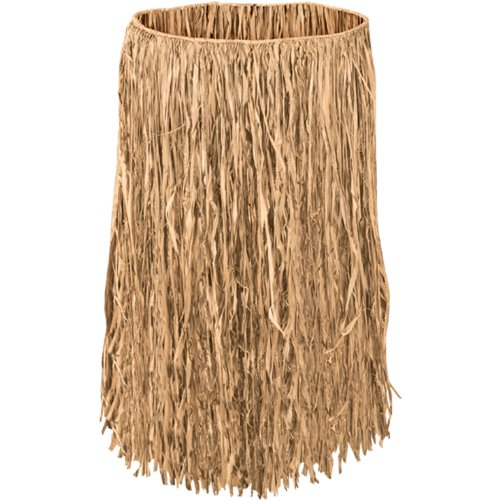King Size Raffia Hula Skirt (natural) Party Accessory  (1 count) (1/Pkg) - Straw Skirt