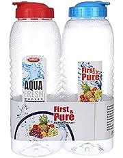 مجموعة 2 زجاجة مياه - 1.2 لتر، متعدد الالوان