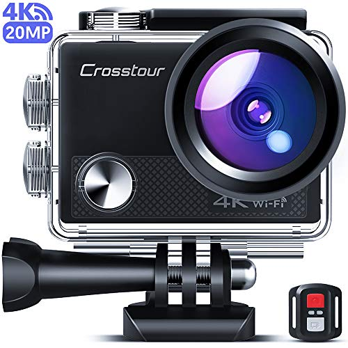 Crosstour CT9100 4K 20MP Action Camera with WiFi EIS LDC Remote Control Sports Camera 40M Waterproof