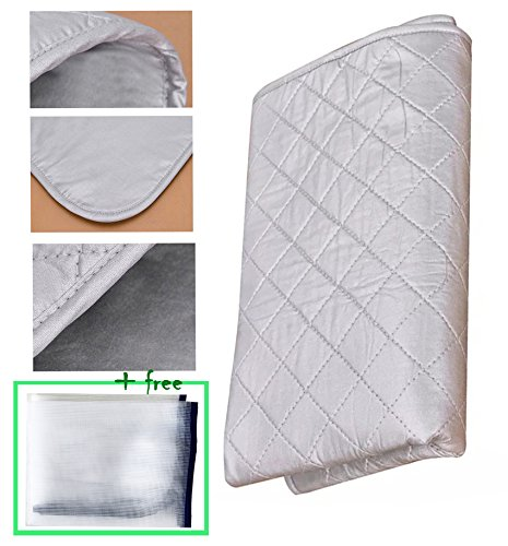 [Upgraded] Premium Ironing Blanket/Mat/Board Cover/Laundry Pad|33x18 inches|Portable &Double-Side Using &Non Skid &No Shape Left| Iron Anywhere|Great for Travel&Home| Protective Mesh Gift Included by HIGHLIGHT LLC