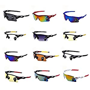 Ecurson Men Women Square Vintage Mirrored Sunglasses Eyewear Outdoor Sports Cycling Fishing Daily-Wear Glasses