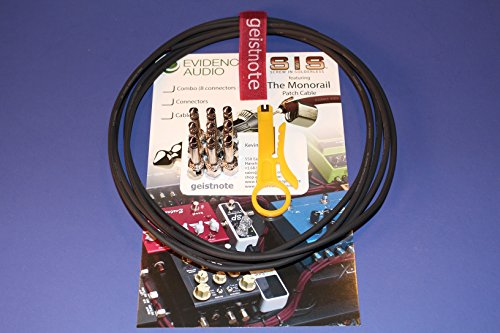 Geistnote's Evidence Audio The Monorail, Black Cable, SIS (Solderless) Pedalboard Kit - 10 SIS plugs/20 feet of Black Monorail by Evidence Audio