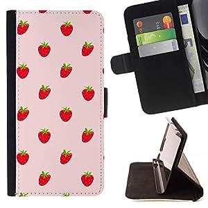 Momo Phone Case / Flip Funda de Cuero Case Cover - Fresas Bayas rojas Wallpaper Fresh Food - Sony Xperia Z1 L39