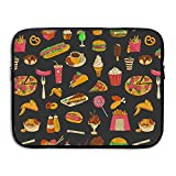 Mr.Roadman Laptop Sleeve Bag Fast Food Hamburger Artwork Briefcase Sleeve Bags Cover Computer Liner Case Waterproof Computer Portable Bags