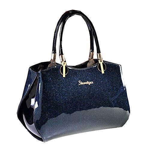 Cuero Blue Bolsos Gaonah Del Capacidad burgundy Mujeres La Gran Hombro De Moda Totalizador Las qO6x6wS4X