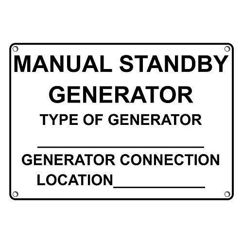 Weatherproof Plastic Manual Standby Generator Type of Generator_Generator Sign with English Text