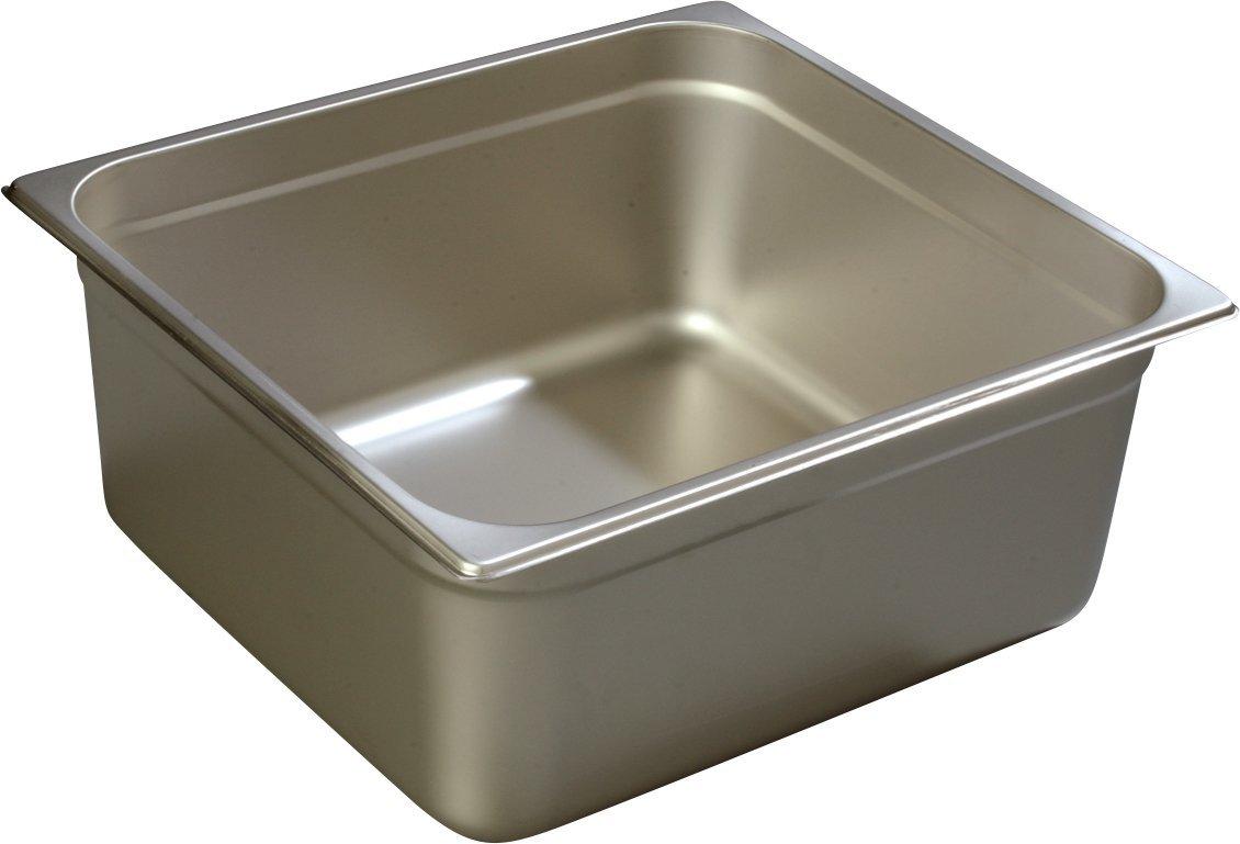 Carlisle 607236 Stainless Steel 18-8 DuraPan Light Gauge 2/3 Size Anti-Jam Food Pan, 14-quart Capacity, 6'' x 12.75'' x 13.88'' (Case of 6)