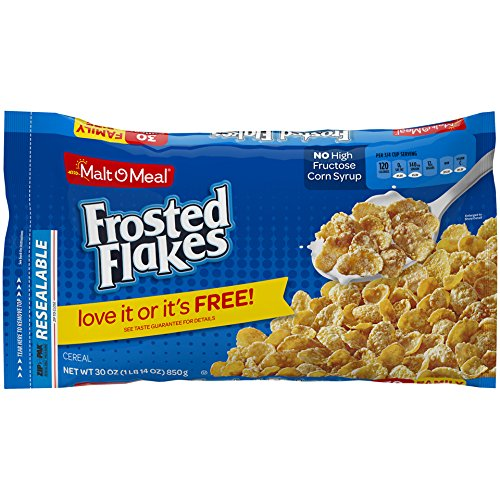 Amazon.com: Malt-O-Meal Frosted Flakes Breakfast Cereal, Breakfast Cereal Bag, 30 Ounce: Prime Pantry