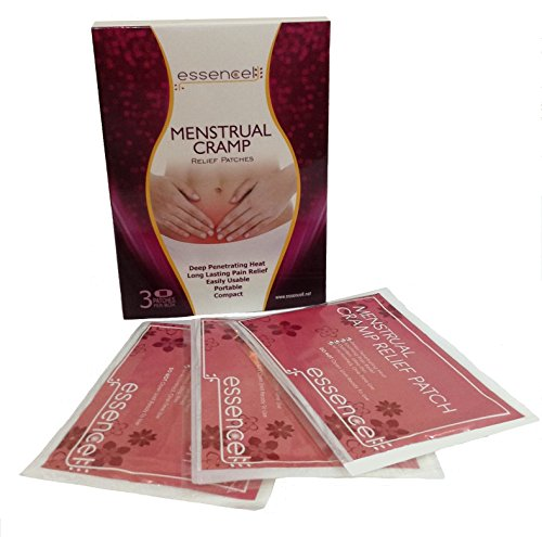 Essencell Menstrual Cramps Pain Relief Natural Heat Therapy Patches -Pack of - One Free Day Shipping