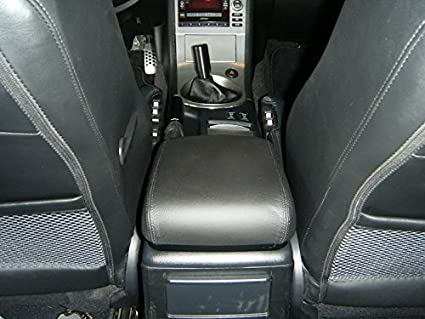 2003-07 V35 Compatible with Infiniti G35 Black Alcantara-Blue Thread RedlineGoods armrest Cover Coupe Manual