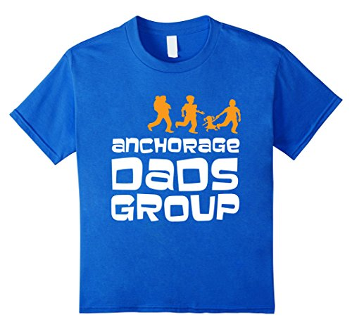 Kids Anchorage Dads Group T-Shirt 8 Royal - All Kids For Anchorage