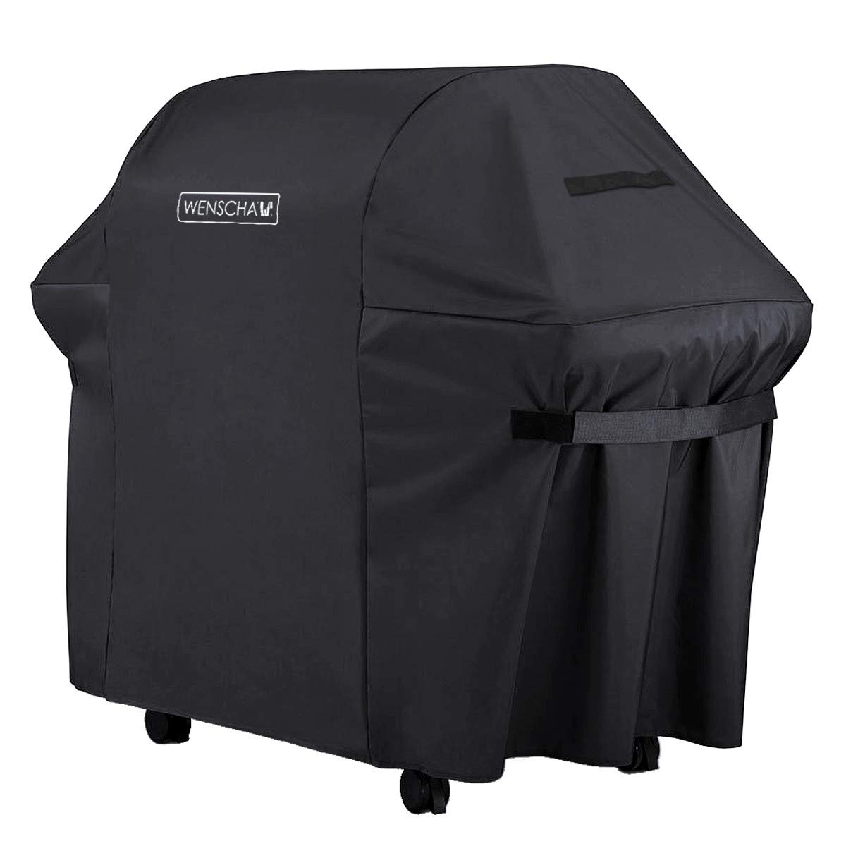 Wenscha (58 Inch) BBQ Grill Cover, 600D Heavy Duty Premium Gas Grill Cover, Fully Waterproof, UV & Fade & Rip Resistant, 58x24x48 Inches, Fits Most Brands of Grill - Black by Wenshca
