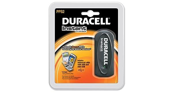Duracell Cargador instantánea con Li-ion célula y cable ...